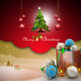 Christmas  gift box with bubbles Stock Photography