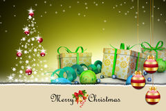 Christmas  gift box with bubbles Royalty Free Stock Images