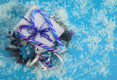 Christmas gift in box. Royalty Free Stock Photo