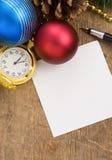 Christmas gift box with christmas Royalty Free Stock Image