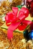 Christmas gift box close up Royalty Free Stock Photo