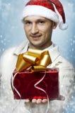 Christmas gift box closeup Royalty Free Stock Photo