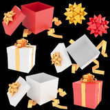 Christmas gift box collection Royalty Free Stock Image