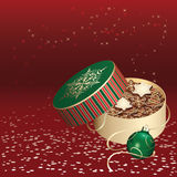 Christmas gift box with cookies Stock Images