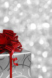 Christmas gift box with copyspace Royalty Free Stock Photography