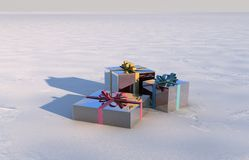 Christmas gift box Stock Image