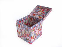 Christmas Gift Box Decorated with Santa Claus Motif Royalty Free Stock Photography