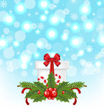 Christmas gift box with holiday decoration Stock Photography