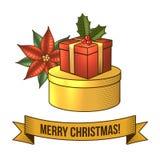 Christmas gift box icon Stock Image