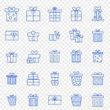 Christmas Gift Box Icon set. 25 Vector Icons Pack vector illustration