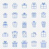 Christmas Gift box Icon set. 25 Vector Icons Pack stock illustration