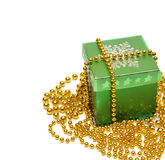 Christmas gift box isolate on white Royalty Free Stock Image