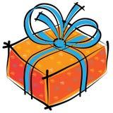 Christmas gift box isolated on white Royalty Free Stock Photo