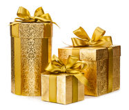 Christmas gift box isolated on white background Royalty Free Stock Photography