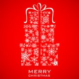 Christmas Gift box made from Snowflakes Royalty Free Stock Photo