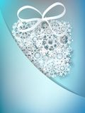 Christmas gift box made from snowflakes. + EPS10 Royalty Free Stock Photo