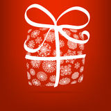 Christmas gift box made from snowflakes. + EPS8. Vector file Stock Illustration