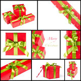 Christmas gift box mix Stock Photo