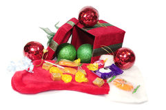 Christmas gift box opened Stock Photography