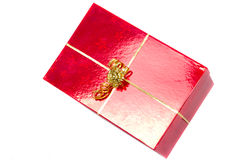 Christmas gift box over white Royalty Free Stock Image