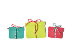 Christmas gift box paper cut Stock Photography