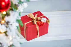 Christmas gift box. Royalty Free Stock Images