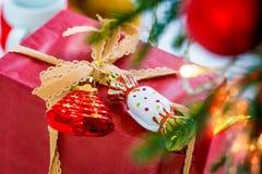 Christmas gift box. Royalty Free Stock Photography