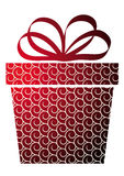 Christmas  with gift box on red Royalty Free Stock Photos