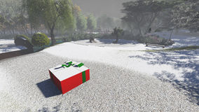 Christmas gift box Royalty Free Stock Photography