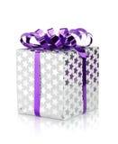 Christmas gift box with ribbon Stock Photography