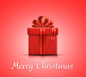 Christmas gift box with ribbon and bow Stock Photo