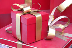 Christmas gift box in Saigon stock image