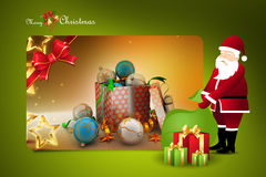 Christmas  gift box with santaclaus Royalty Free Stock Photo