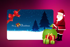 Christmas  gift box with santaclaus Stock Images
