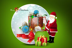 Christmas  gift box with santaclaus Royalty Free Stock Images