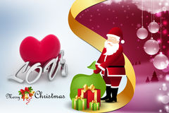Christmas  gift box with santaclaus Stock Photography