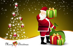 Christmas  gift box with santaclaus Royalty Free Stock Photography