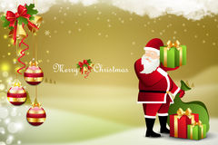 Christmas  gift box with santaclaus Stock Photo