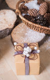 Christmas gift in box Royalty Free Stock Photos