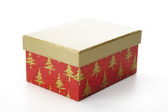 Christmas gift box with separate lid Stock Photo