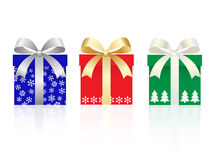 Christmas gift box set Stock Images