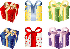 Christmas Gift Box Set Royalty Free Stock Photography