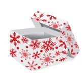 Christmas gift box with snowflakes Royalty Free Stock Photo