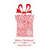 Christmas gift box of snowflakes Stock Photo
