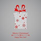 Christmas gift box of snowflakes Stock Photography