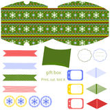 Christmas Gift box template Stock Photos