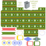 Christmas Gift box template Royalty Free Stock Photo