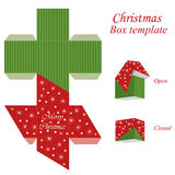 Christmas gift box template Royalty Free Stock Images