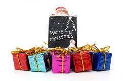 Christmas gift box  on white background Stock Photography