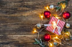 Christmas gift box. royalty free stock photo